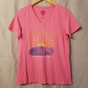 Life Is Good Pink T-shirt